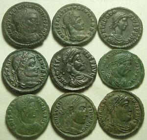 1 Genuine Ancient Roman coin Licinius Constantine Valentinian Crispus Theodosius