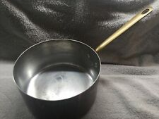 """New listing Vintage Mauviell Copper 8"""" Sauce Pan Brass Handle Tin Lining France 14 Cup"""