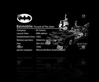Display plaque for LEGO Super Heroes 1989 Batmobile 76139 (AUS Top Rated Seller)