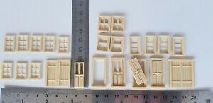 OO Gauge 1:76 Scale railway building house wood windows & doors