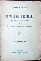 1910 libretto teatro CAVALLERIA RUSTICANA-Targioni/Tozzetti/Men.-Pietro Mascagni