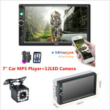 "2 Din 7"" HD Car Stereo MP5 Player Bluetooth FM Radio Mirror Link+RearView Camera"