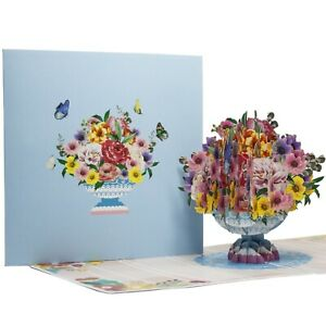 Handmade Blossom Flowers 3D Pop up Card for Birthday or any Occasions