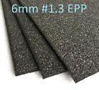 "EPP Foam Sheets Black 6mm Thick #1.3 Density 12"" x 36"" 1 sheet"