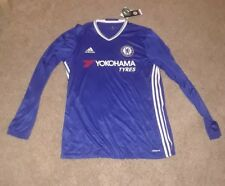Adidas chelsea jersey long sleeve blue mens large