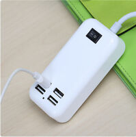EU/US/UK Plug 3A 4 USB Ports Travel Home Wall Charger Power Adapter with Switch
