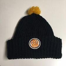Vintage 80's 90's BOSTON BRUINS Knit Winter Hat Pom Pom Beanie NHL Hockey
