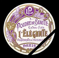 French Perfume Label Antique Circa 1910 Poudre De Beaute Lorenzy Palanca