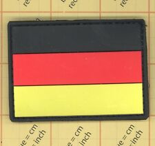 PVC GERMANY Deutschland Fahne FLAG rubber PATCH POLICE BLACK OPS ARMY Paintball