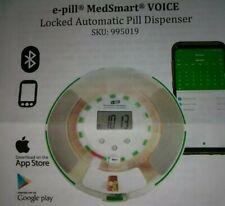 New e-Pill MedSmart Voice - Locked Automatic Pill Dispenser 1-6 Alarms Per Day