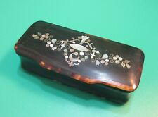 Antique Shell Snuff Box Inlaid Mother of Pearl