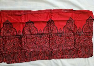 2 INC Black Red Paisley Medici King Pillow Shams Grey Cotton 36x20 Boho Modern