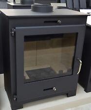 Wood Burning Stove Solid Fuel 11-18 kw Top Flue Fireplace BImSchV Log Burner
