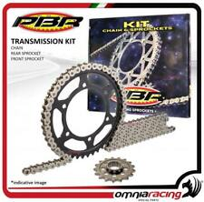 Kit trasmissione catena corona pignone PBR EK Kawasaki KX125 1996>1997