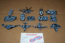 Micro Machines Galoob Terror Troops Military Lot of 13 Tank Airplane Helicopter