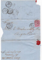 1860 QV LONDON PART COVER WITH A FINE SG66 4d CARMINE STAMP TO FRANCE Cat £225