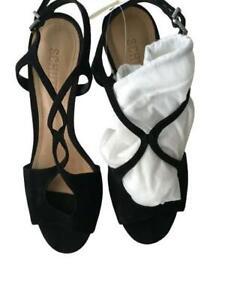 SCHUTZ Suede Sandals-leather heels shoes Size 39 BR 37 US 9 UK 6