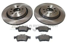 SAAB 9-3 93 2002-2012 REAR 2 VENTED BRAKE DISCS AND PADS SET NEW