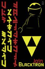 """Original LEGO Art Blacktron Propaganda 11""""x17"""" Poster"""