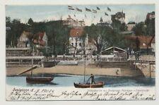 AK ÖVELGÖNNE, Strandpartie mit Fährhaus + Elbschlucht, gelaufen 1904 (45868)
