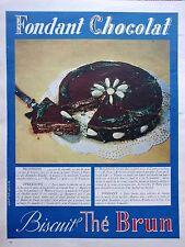 page de publicité   BISCUITS  THE   BRUN   en 1953  ref. 42197