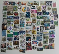 More details for 100 different great britain high value commemoratives & large definitive stamps
