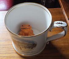 Large Vintage Frog Mug by Gladstone pottery museum Stoke on Trent Orange  frog