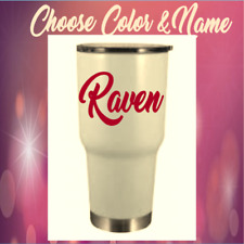 """Monogram vinyl decal for Tumblers,Ramblers, Cups Sticker, Personalized Name 2.5"""""""