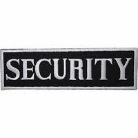 Security Embroidered Iron / Sew On Patch T Shirt Safety Vest Jacket Black Badge