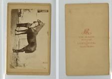 Ch. Mack, Un cavalier et sa monture CDV vintage albumen carte de visite,  Tira