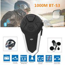 Intercomunicador Casco Moto, ENCHICAS BT-S3 Bluetooth Auriculares Manos NR