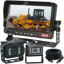 "Bulldozer Rear-View Camera System With 7"" Reversing Monitor CCD Backup Cameras"