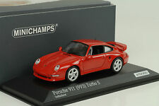 1998 PORSCHE 911 993 TURBO S 3.6 terra indiana Red 1:43 Minichamps Diecast 300pcs