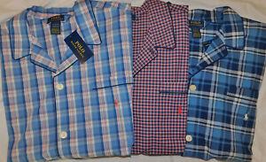New Men's Polo Ralph Lauren SS Button Down Sleep Shirt Size XL
