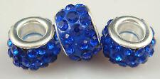 3PCS New Listing High Quality CZ Crystals Beads fit European Charm Bracelet 5Qa