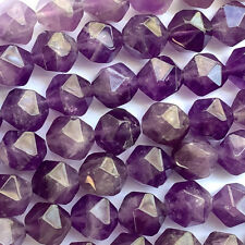 Amethyst Purple 10x8mm Polygon Semi Precious Stone Beads Q20 Beads per Pkg
