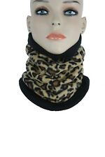 Women Men Winter Ski Neck Scarf Fabric Wrap Face Mask Biker Head Leopard Beige