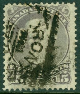 EDW1949SELL : CANADA 1868 Sc #29 Grey Violet. Used. Light corner crease. Cat