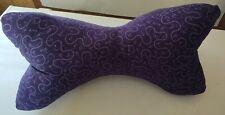 3 Sided Neck Pillow, Handmade, Dog Bone, WASHABLE - Purple W/Light Purple Design