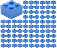 ☀️100x NEW LEGO 2x2 BLUE Bricks (ID 3003) BULK Parts Sky Ocean Sea City Building