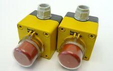 2x Klöckner Moeller Not-Aus-Taster Emergency Stop Button Notaustaster 1S+1Ö IP65