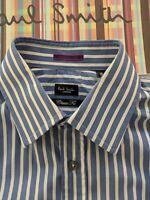 "PAUL SMITH Men's SHIRT 15 "" Collar. Contrast FLORAL Double Cuffs"