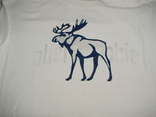 Mens Womens Abercrombie Fitch  White T Shirt-M