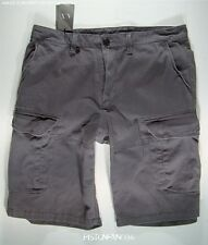 Armani Exchange Mens Dark Gray Cargo Shorts 38 NWT