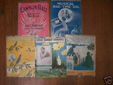 Vintage PIANO SHEET MUSIC cover art! 1900'S RAGS ETC!