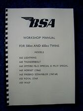 BSA A50 & A65 All Models - Workshop Manual Factory Copy 1966 -1968 00-4123 BW38