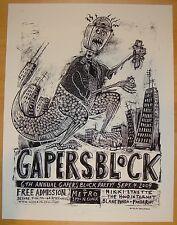 2009 Gapers Block - Chicago B/W Silkscreen Concert Poster S/N by Dan Grzeca