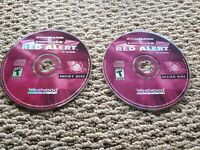Command and Conquer Red Alert Allied Soviet 2 Disc Set PC CD-ROM Windows Vintage
