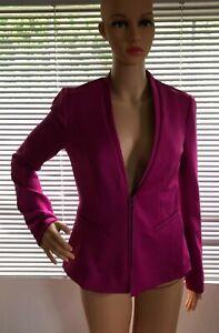 NWT Worthington Womens Pink Blazer Zip Up Career Jacket Small Business Cute