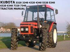 ZETOR 3320 3340 4320 5320 5340 6320 OPERATION MANUAL w/ Tractor Service Repair